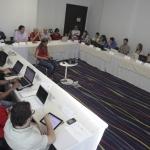 Primera sesión del Módulo de Cultura Popular de la Beca Gabriel Garcia Márquez. Barranquilla.Joaquín Sarmiento/Archivo FNPI