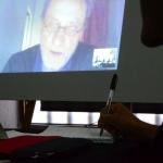 Sesión vía Skype sobre Periodismo digital en la fuente cultural con Jean-François Fogel (Francia), maestro FNPI.Joaquín Sarmiento /Archivo FNPI