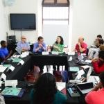 Sesión del Módulo de Literatura.  Beca GGM de Periodismo Cultural. Joaquín Sarmiento /Archivo FNPI