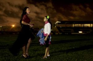 Cristina Amortegui, reina del Carnaval de los Niños. Joaquín Sarmiento/Archivo FNPI