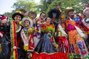 Cristina Amortegui, reina del Carnaval de los Niños.Barranquilla. Joaquín Sarmiento/Archivo FNPI