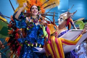 Daniela Cepeda Tarud, Reina del Carnaval, durante el bando. Joaquín Sarimento/ Archivo FNPI