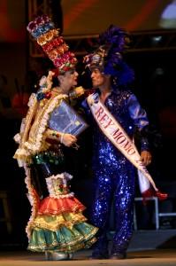 José Llanos ,Rey Momo del Carnaval de Barranquilla, y Daniela Cepeda Tarud, Reina del Carnaval. Joaquín Sarmiento/Archivo FNPI