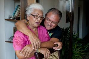 Chela y Richi en su casa. Barranquilla,Colombia. Edwin Padilla/Archivo FNPI